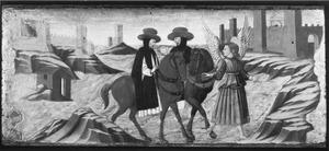 De aartsengel Raphael begeleidt twee Dominicanen op reis