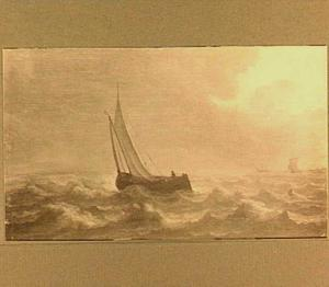 Zeilschip op breed vaarwater