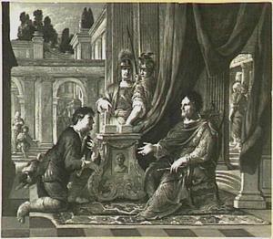 Jozef van Arimathea smeekt Pontius Pilatus om het lichaam van Christus