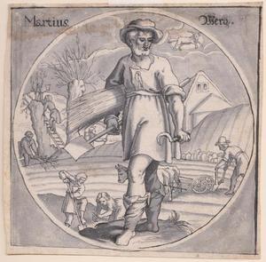 Landbouwactiviteiten: allegorie van de maand maart