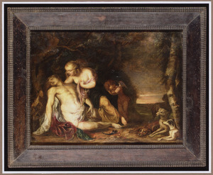 Venus treurend over de gestorven Adonis