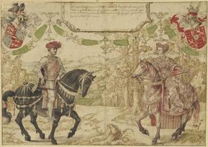 Dubbelportret van Jan IV van Nassau (1410-1475) en Maria van Loon (1426-1502)