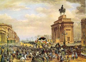 De begrafenisstoet van de Hertog van Wellington