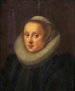 Portret van Gertrud van Cronenberg, eerste echtgenote van Adrian de Bruyn van Blankenforst