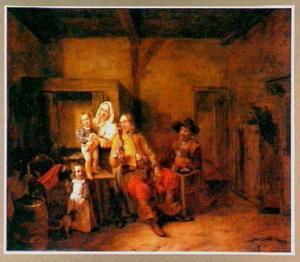 Familie in een interieur
