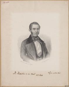 Portret van Jan Frederik Reitz (1821-1896)