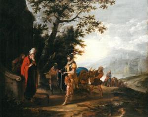 Elisa weigert de geschenken van Naäman (2 Koningen 5:15-16)