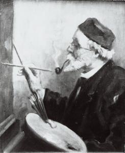 Portret van Franz Stracke (1820-1898)