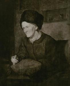 Portret van een oude vrouw