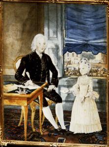 Dubbelportret van Severijn van der Kloot (1725-1797) en zijn dochter Johanna Elisabeth van der Kloot (1763-1846)