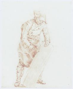 Een timmerman aan het werk