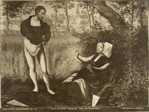 Man en vrouw in een korenveld