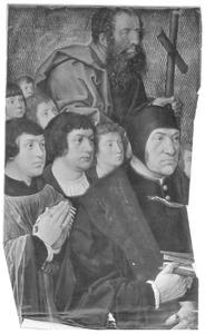 Portret van Philippe Haneton met zijn zeven zonen en de H. Philippus