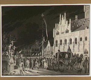 Vrijheidsfeest voor het stadhuis te Middelburg, 1795