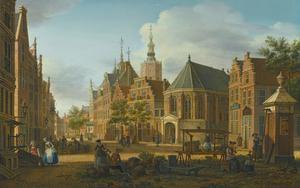 De Groenmarkt in Den Haag gezien naar het Westeinde