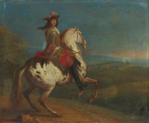 Koning Lodewijk XIV te paard