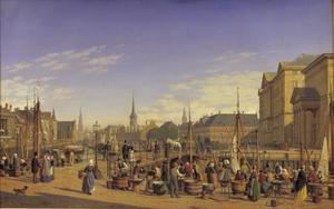 Zicht op Christiansborg in Kopenhagen