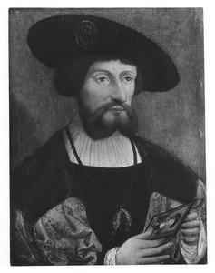 Portret van Christiaan II koning van Denemarken (1481-1559)