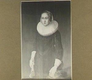 Portret van 34-jarige vrouw, wellicht Jacomina de Rijck