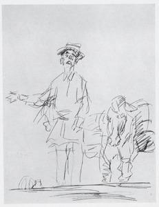 Buziau als Spaanse pottenkoopman met ezel in Theater Scala