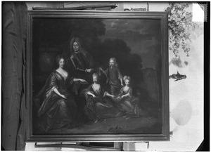 Groepsportret van Willem Jan van Dedem (1656-1738), Gerbregt van Delen (1660-1733) en hun kinderen
