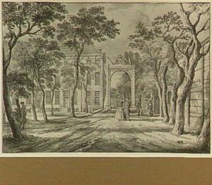 Den Haag, Bosbrug gezien naar het Korte Voorhout