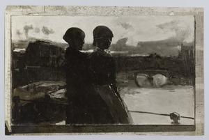 Twee vrouwen aan het water