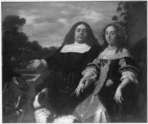 Dubbelportret van Jan Jacobsz. Hinlopen (  -1666) en Lucia Wijbrants (1638-1719)