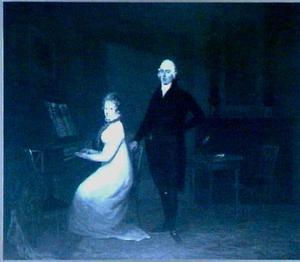 Dubbelportret van Cornelis Maria van Hengst (1771-1848) en Wilhelmina Sloet van Sinderen (1783-1832)