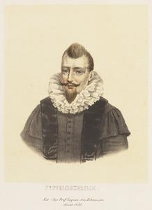 Portret van Franco Petri Burgersdijk (1590-1635)