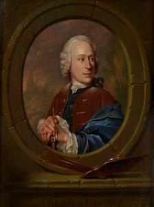 Portret van een schilder, mogelijk zelfportret van Jan Stolker (1724-1785)