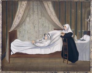 Doodsbedportret van een onbekende vrouw