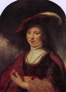 Portret van Ingeltje Thoveling (1619-1651), echtgenote van Govert Flinck
