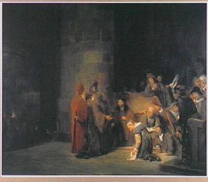 Christus en de overspelige vrouw (Johannes 8:1-6)