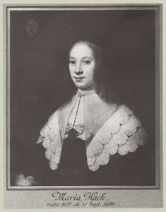 Portret van Maria Hack (1617-1688)