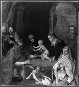 De presentatie van Christus in de tempel met portretten van leden van het Huis Wittelsbach