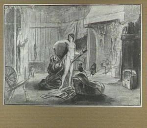Interieur met heksen