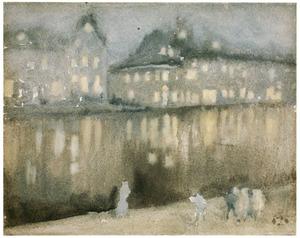 Amsterdamse gracht bij avond