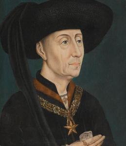 Portret van Philips de Goede, hertog van Bourgondie met de Orde van de Ster
