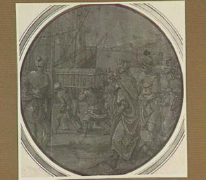 Inscheping van een rijk gedecoreerde schrijn