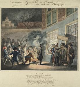 Het Haarlems genootschap Democriet viert de eerste verjaardag van de revolutie, 2 februari 1796