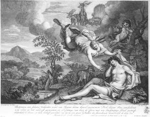 Diana bezoekt de slapende Endymion