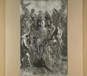 Maria met Christus en Anna aanbeden door de heiligen van het Oostenrijkse huis
