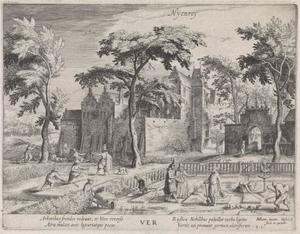 Lente: gezicht op kasteel Nijenrode