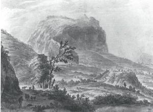 Zuidelijk berglandschap met herders