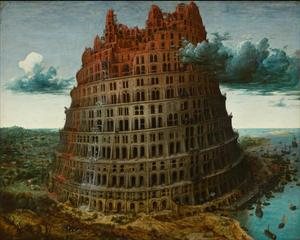 The building of the tower of Babel (Genesis 11:3-5)