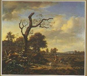 Landschap met rustende jagers