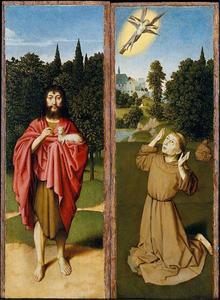 Johannes de Doper (links); de H. Franciscus (rechts)