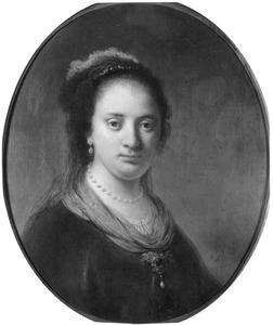Portret van een jonge vrouw, mogelijk Saskia van Uylenburgh, Rembrandts eerste vrouw