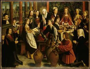 Jezus beveelt tijdens de bruiloft  te Kana zes kruiken met water te vullen (Johannes 2)